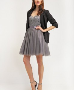 Laona Cocktailjurk frost grey 2