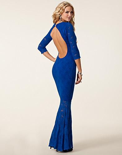 Chique Galajurken.Avondjurk Honor Gold Lisa Maxi Lace Dress