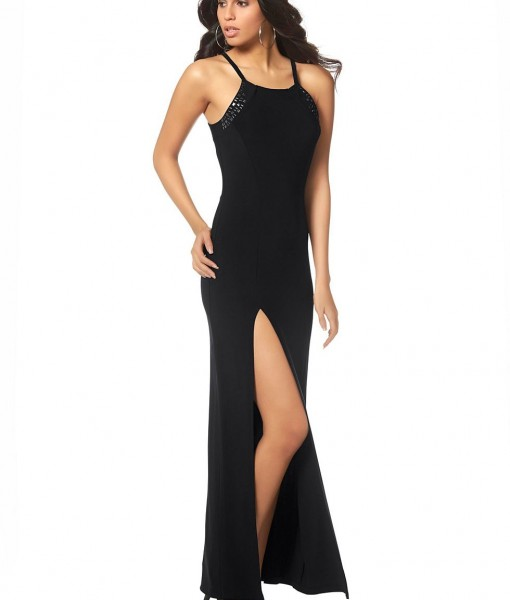 LAURA SCOTT Gala jurk met smalle spaghettibandjes 1