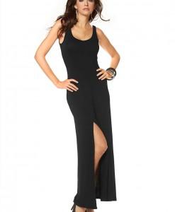 LAURA SCOTT Maxi jurk met afgeronde V-hals 1