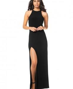 Maxi-jurk met lange zijsplit 1