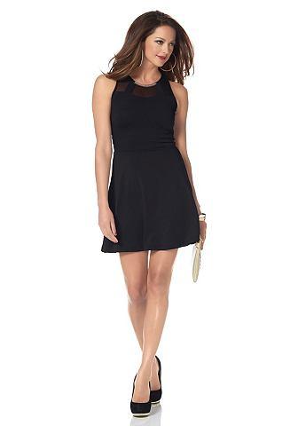 MELROSE Jersey-jurk met mesh-inzet zwart 1