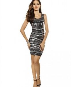 Partydress met pailletten alba moda 1