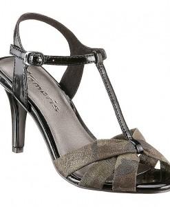 TAMARIS Sandaaltjes van textiel en imitatieleer 1