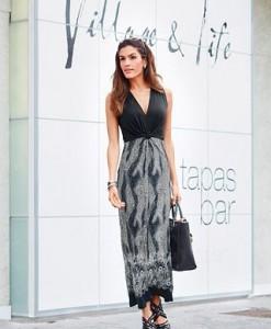 VIVANCE Jersey-jurk met brede bandjes 1